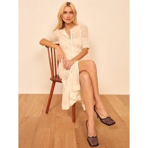 Reformation Oxford Dress in Ivory